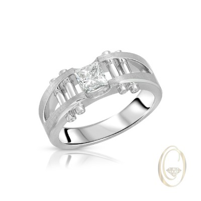 PLATINUM MEN'S DIAMOND RING
