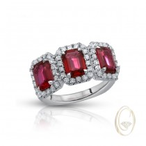 18K RUBY DIAMOND RING OCA39509