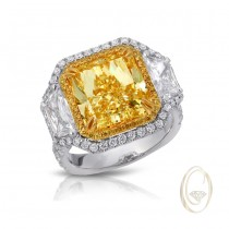 PLATINUM/18K YELLOW DIAMOND RING