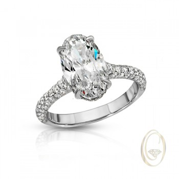 18K DIAMOND SEMI-MOUNT RING OCA39503